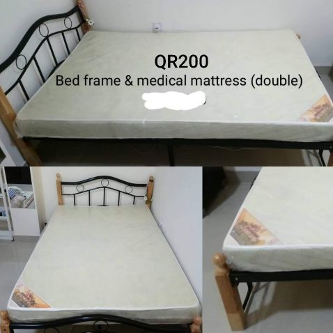 Bed with medicated matress