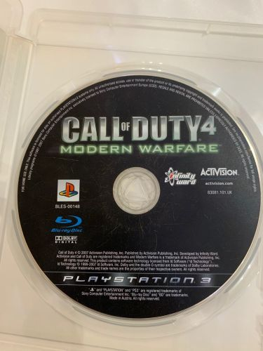 Call of Duty modern warfare PS3
