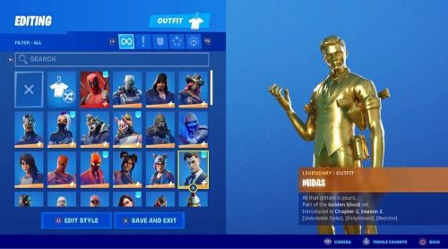 PlayStation and Fortnite account