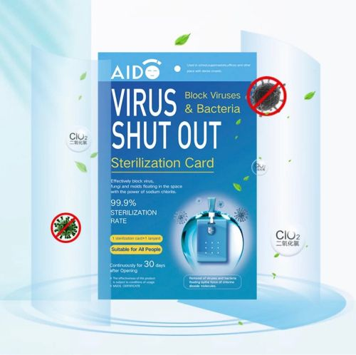 Disinfection card