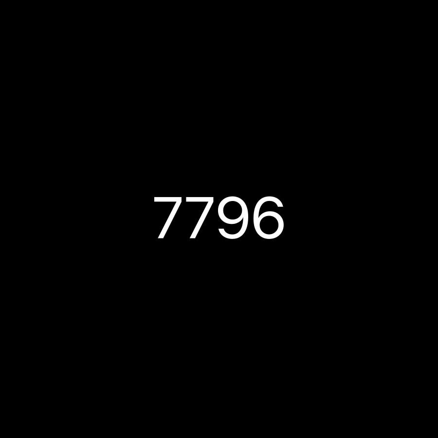 For sale 7796 Black plate