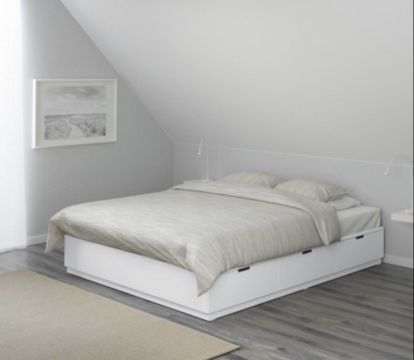 Queen ikea bed without mattress