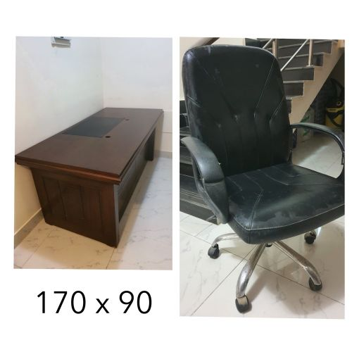 Desk with chair & A kitchen stove