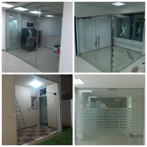 all Glass partition fixing work