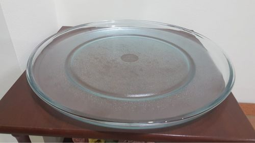 Big glass plate