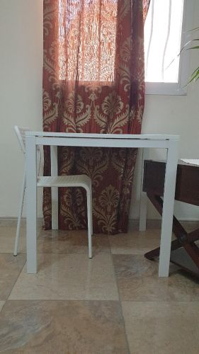 squared Ikea Table + 2 Chairs