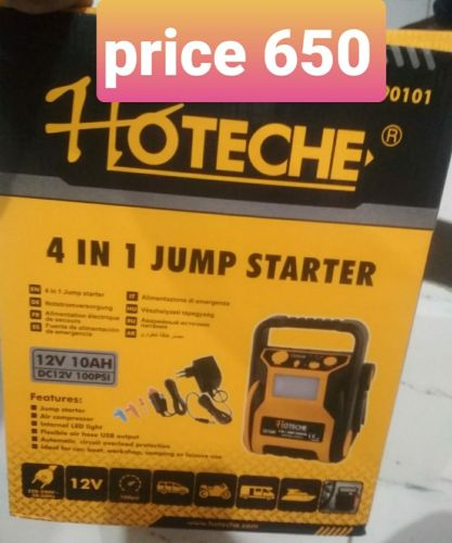 hoteche jump starter air compressor 4 in 1