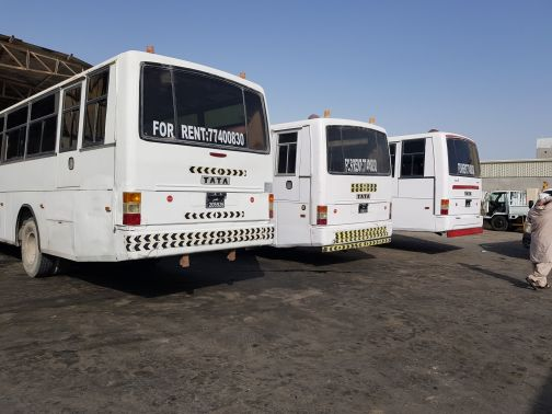 tata bus for rent.