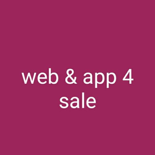 Website and application for sale