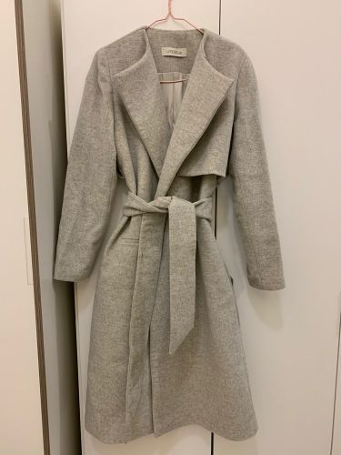 Wool wrap coat Uterqüe