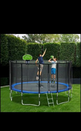 Trampoline with Basketball hoops