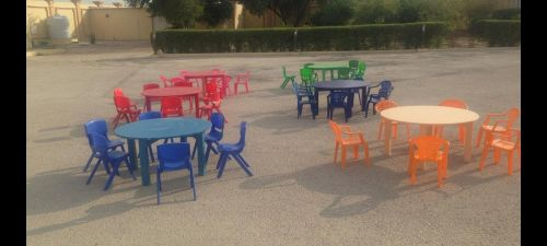 Colourful Tables and Chairs