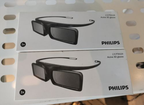 2x Philips 3D Active Glasses *Brand new*