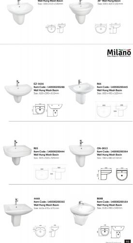 new wash basin half padestal for