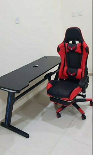 Gaming table with chair