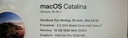 "Mac Book Pro 15"" mid 2015 ( contact by Whatsapp only )"