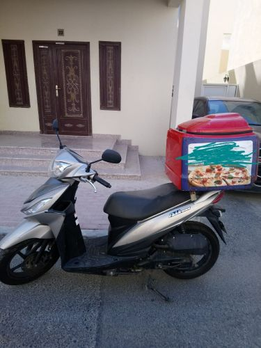 bike with delivery box