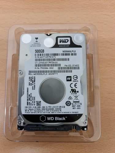 WD laptop hard disk 500 G
