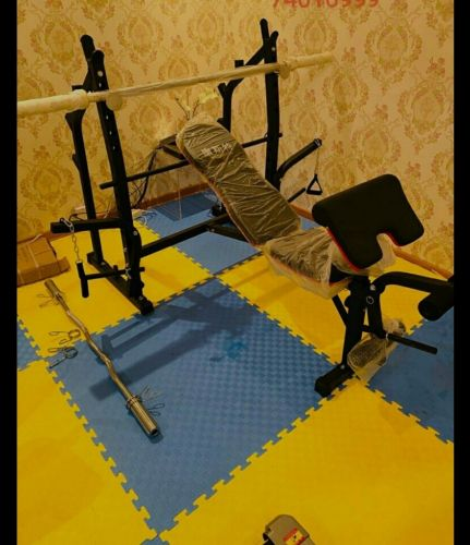 Sports fitness bench for sale price 1450 QAR for sale availa