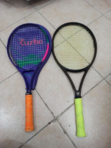 rackets and tennis balls Wilson and turbo brands