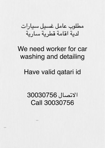 Car Washing and detailing worker