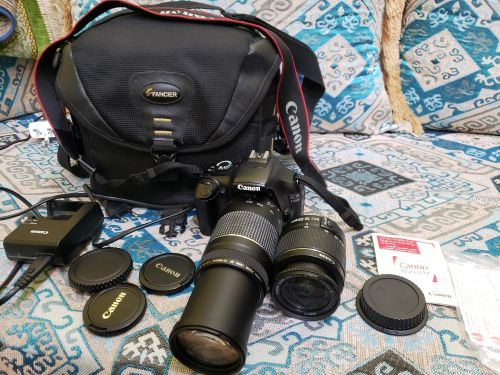 canon D1100 with 2 lenses
