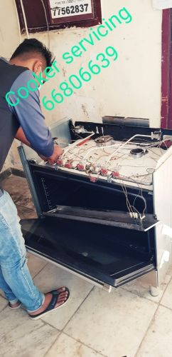 Gas cooker servicing