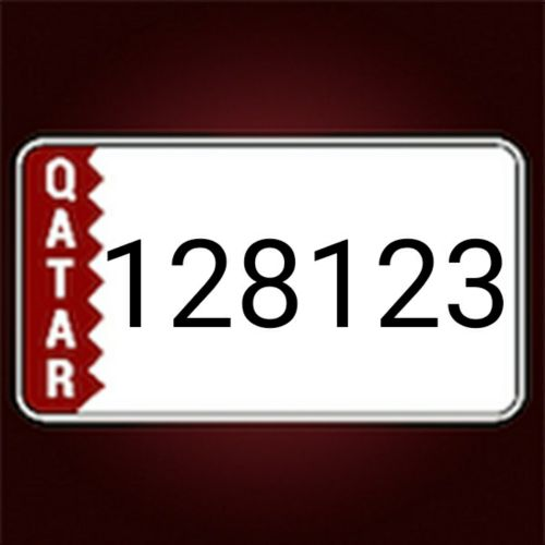 number plate 128123