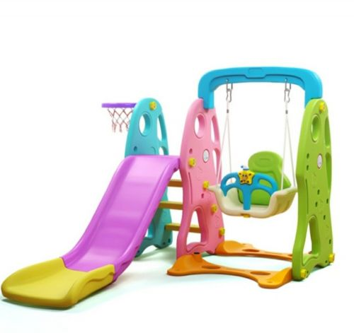 Sliding with swing for kids