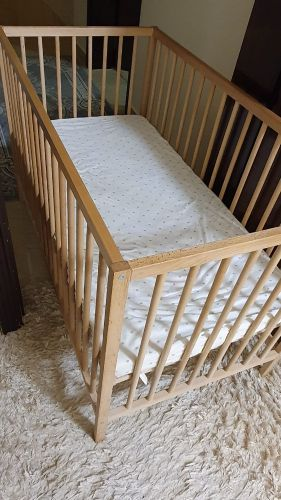 Infant Bed like new condition. 60*120 with high quality matt