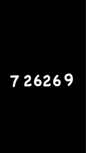 (7 2626 9) plate number