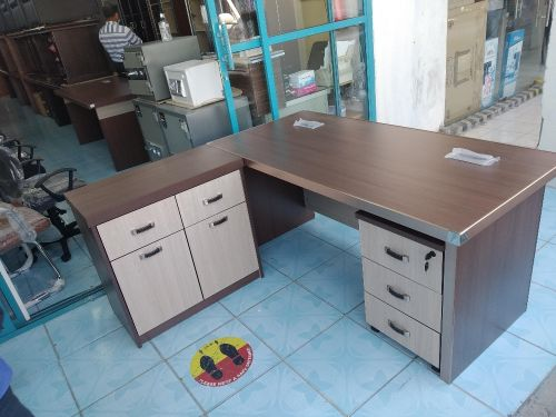 Office Table, File Rack & Office Chair.