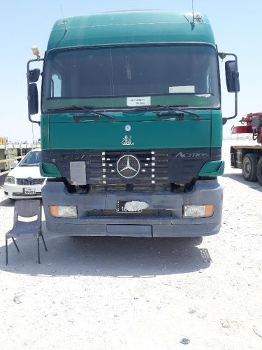 actros 1997  with flatbed Trailer 2009 for sale istemara 8 m