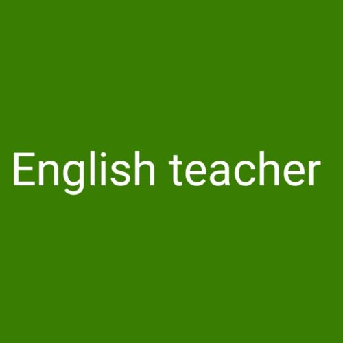 English teacher and IELTS preparation