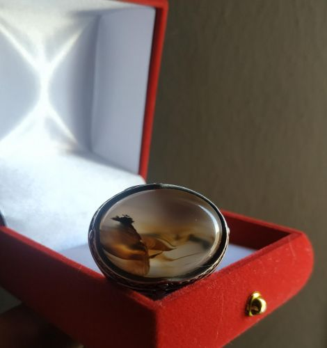 Very Rare Agate Silver Ring