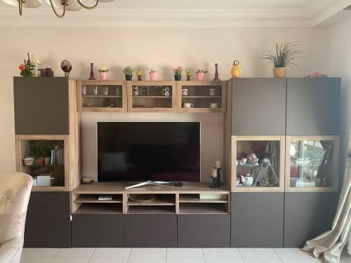 Stand and cabinet for television
