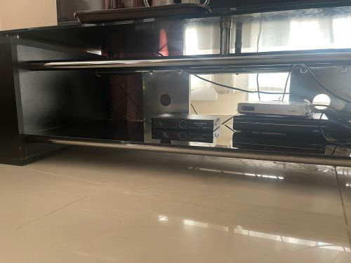 Glass Top TV Stand Table