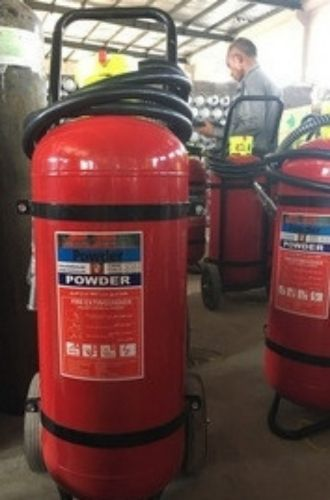 50 KG Fire Extinguisher with Trolley