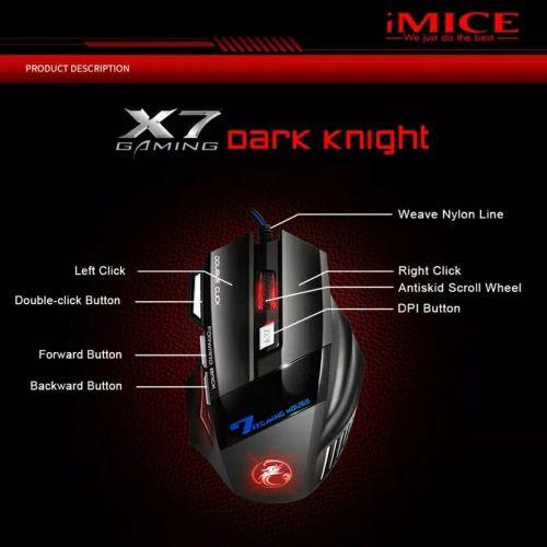 Gaming mouse rgb silent buttons