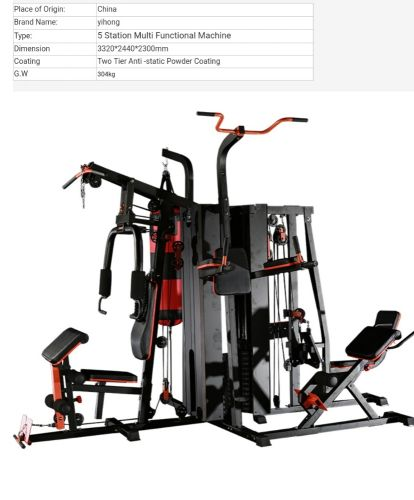 Multifunction home gym station