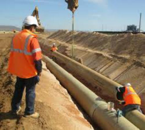 supply and install of GRP & HDPE Pipes