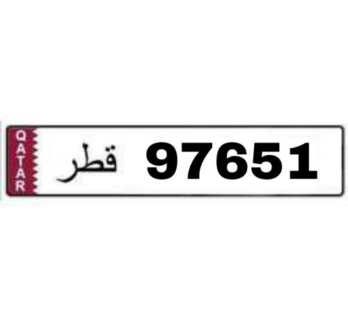 LICENCE PLATE 97651