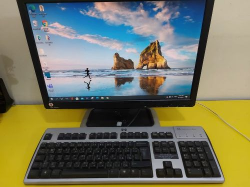 Dell PC with HP monitor and keyboard