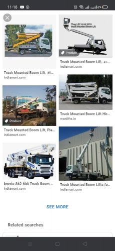 MANLIFT 21 meters truck mounted for rent
