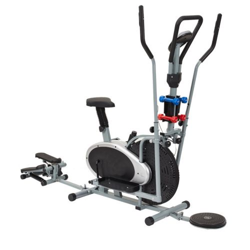 Fashion elliptical machine with push-ups and dumbbell steppe
