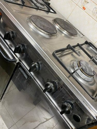 stove with electrical oven