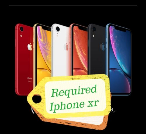 Required Iphone xr