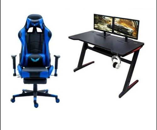 gaming chair & table new