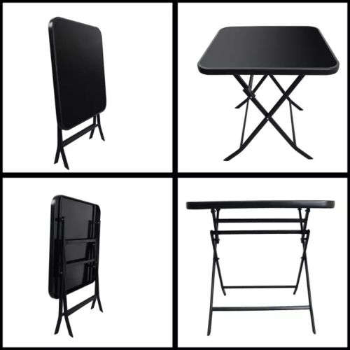 Foldable Tempered Glass Dining Coffee Table