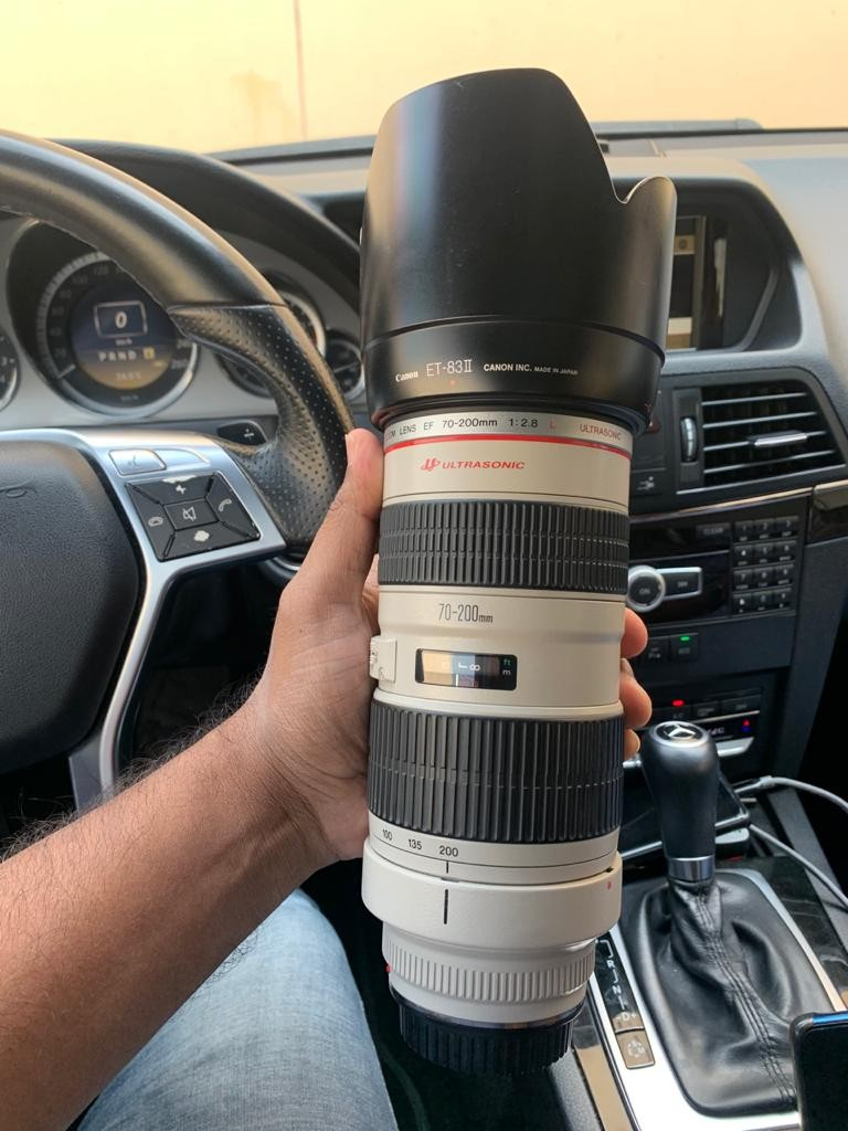 Canon EF 70-200mm lens F 2.8L